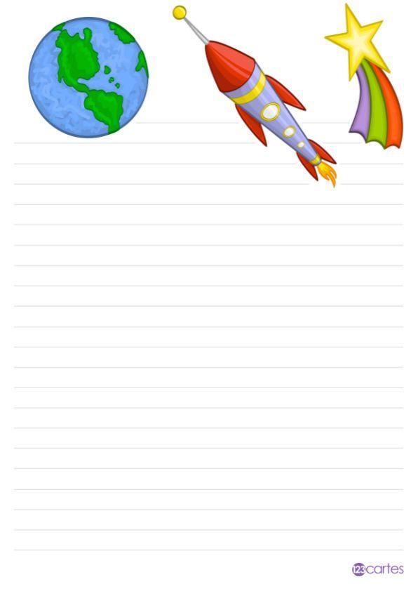 10 papiers à lettre à imprimer pour enfants 10