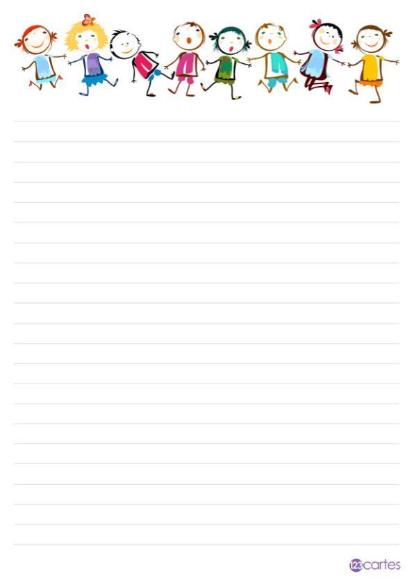 Papier A Lettre A Imprimer 123cartes Com