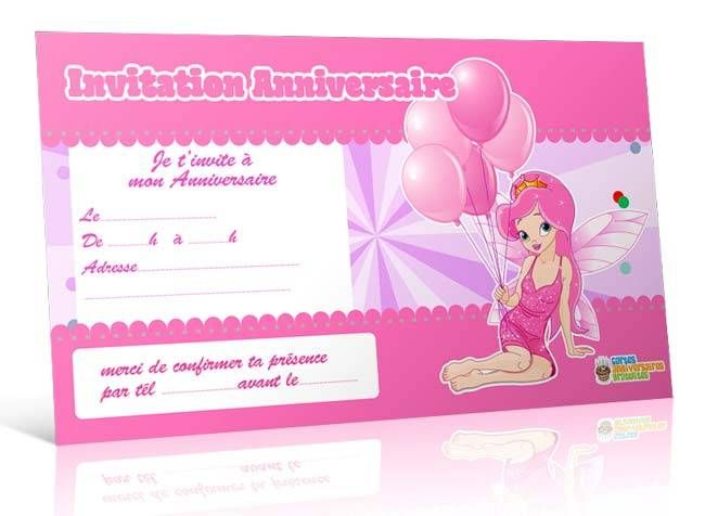 invitation anniversaire de princesse 123 cartes. Black Bedroom Furniture Sets. Home Design Ideas