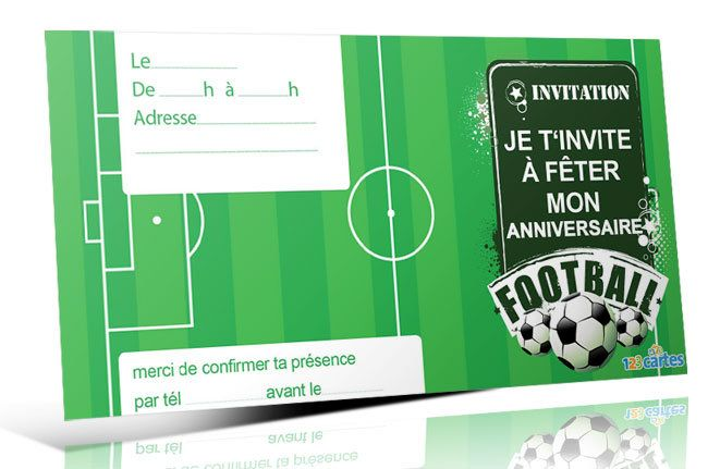 Häufig Invitation anniversaire Terrain de foot - 123 cartes ND14