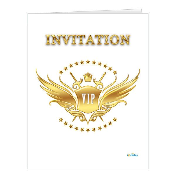 Invitation anniversaire vip 123 cartes invitation vip gold stopboris Image collections