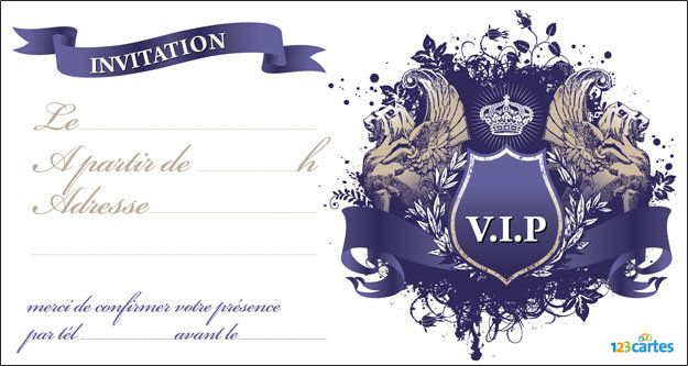 Invitation anniversaire VIP royale