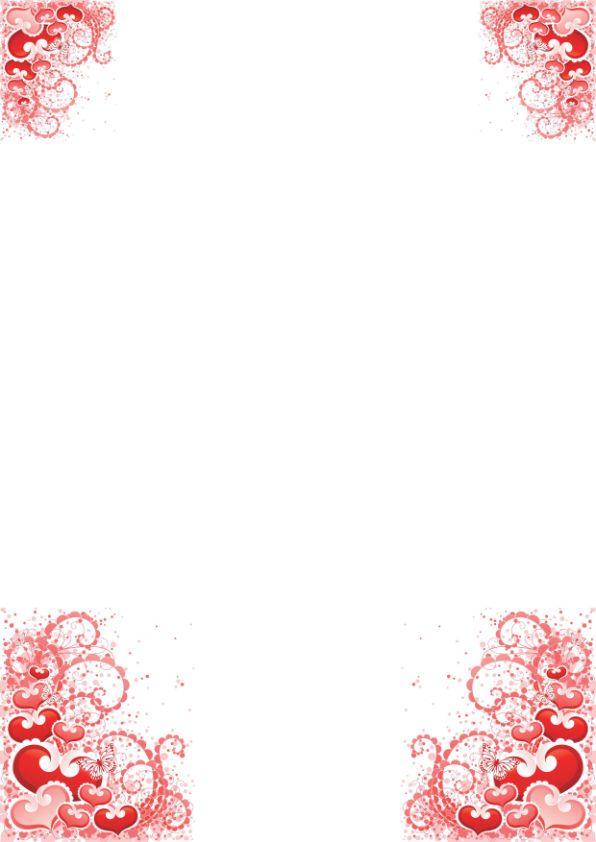 papier à lettre amour à imprimer