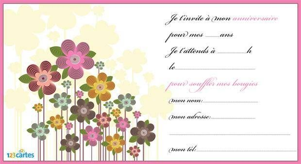 Fabulous Invitation anniversaire Assortiment de fleurs - 123 cartes MR41