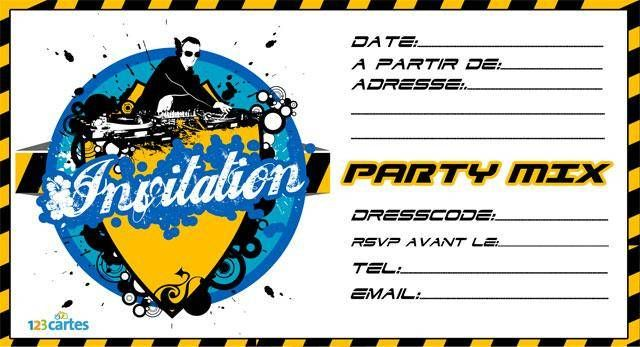invitation Dj party mix