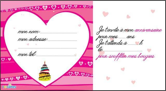 Connu Invitation anniversaire Love colors - 123 cartes EZ09