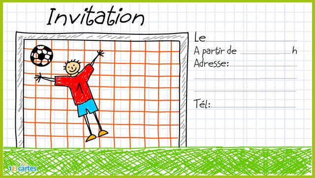 Favori Invitation anniversaire Beau but - Football - 123 cartes JN16