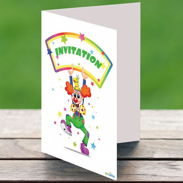 invitation anniversaire clown rigolo
