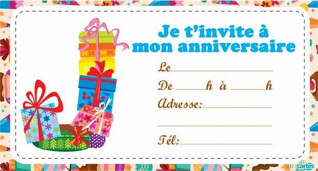 Gut bekannt Carte Invitation Anniversaire 10 Ans Fille - Blog de design unique ST85