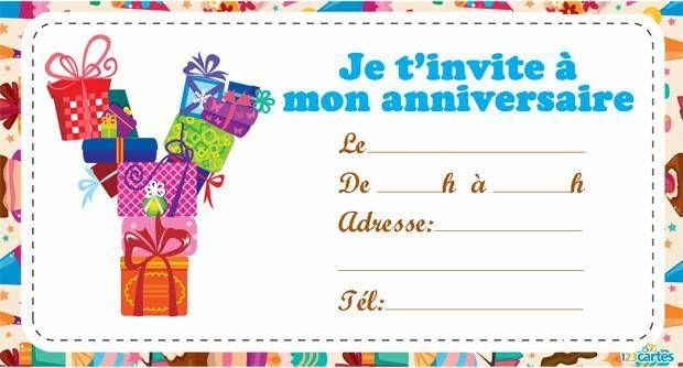 Top Invitation anniversaire Alphabet de A à Z - 123 cartes TC38