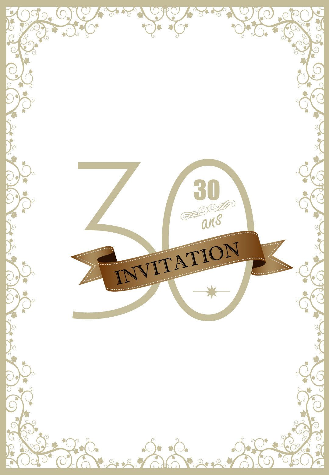 invitation anniversaire 30 ans style retro 123 cartes. Black Bedroom Furniture Sets. Home Design Ideas