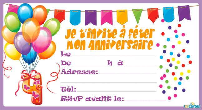 populaire carte invitation anniversaire fille 9 ans gratuite imprimer np56 montrealeast. Black Bedroom Furniture Sets. Home Design Ideas