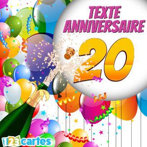 texte anniversaire 20 ans 123 cartes. Black Bedroom Furniture Sets. Home Design Ideas