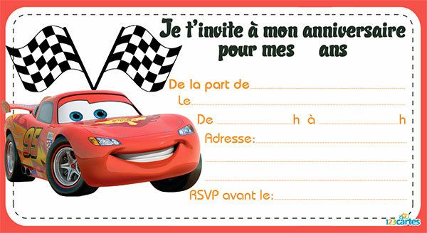 4 invitations cars 3