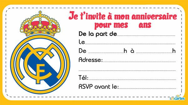 Fabuleux Invitation anniversaire Clubs de foot - 123 cartes ME76