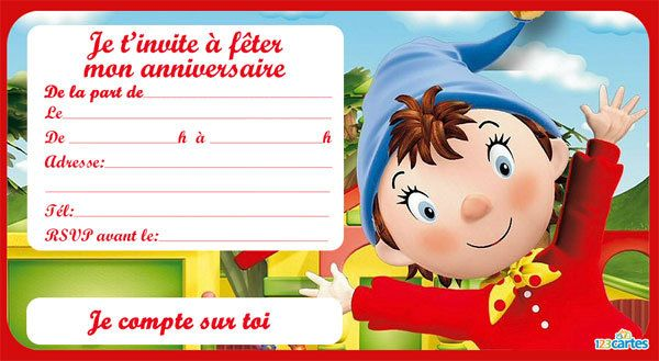 Top Invitation anniversaire Winx - 123 cartes OD19