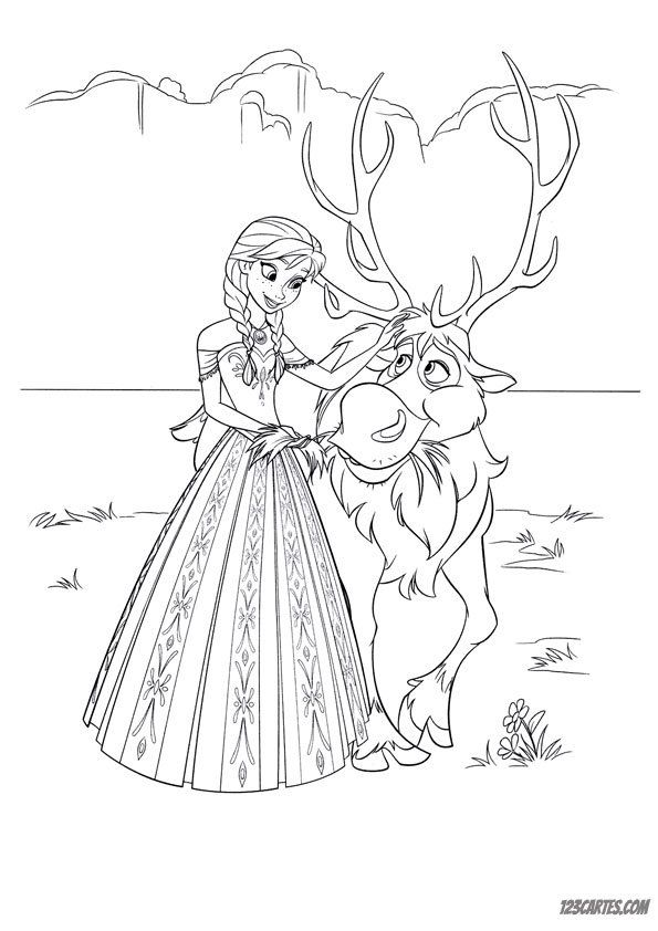 23 coloriages de la reine des neiges 123 cartes - Coloriage la cars ...