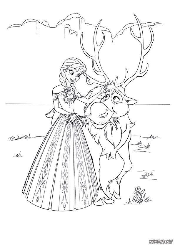 23 coloriages de la reine des neiges | 123cartes.com