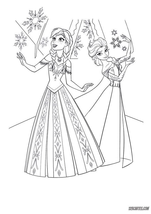 23 Coloriages De La Reine Des Neiges 123 Cartes