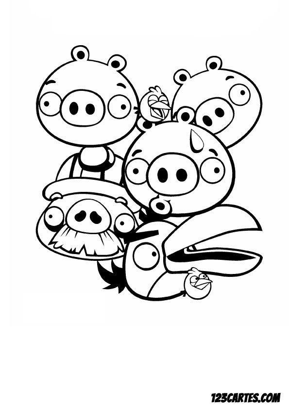 28 coloriages angry birds 123 cartes - 123 coloriage ...