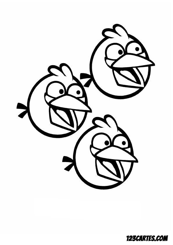 28 coloriages angry birds 123 cartes - Angry bird dessin ...