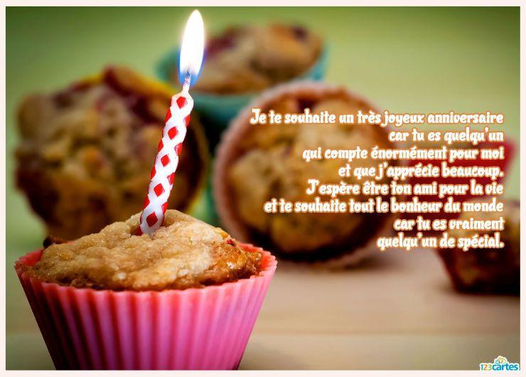 texte anniversaire pour mon ami