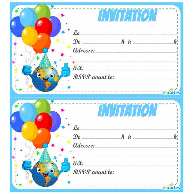 Relativ Invitation anniversaire Smiley en délire - 123 cartes DN39