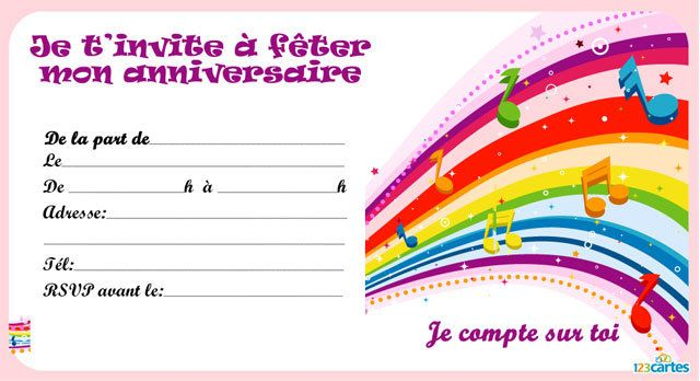 arc-en-ciel de notes musicales