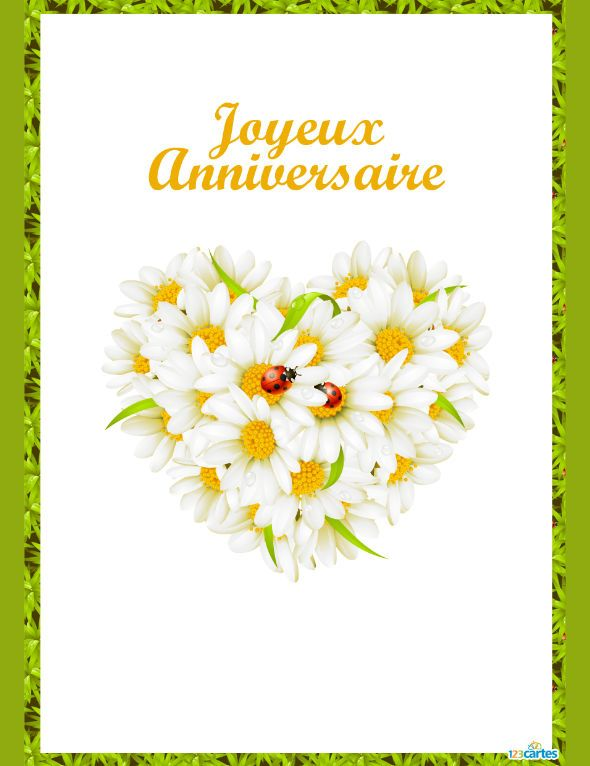 Carte anniversaire Fresh love