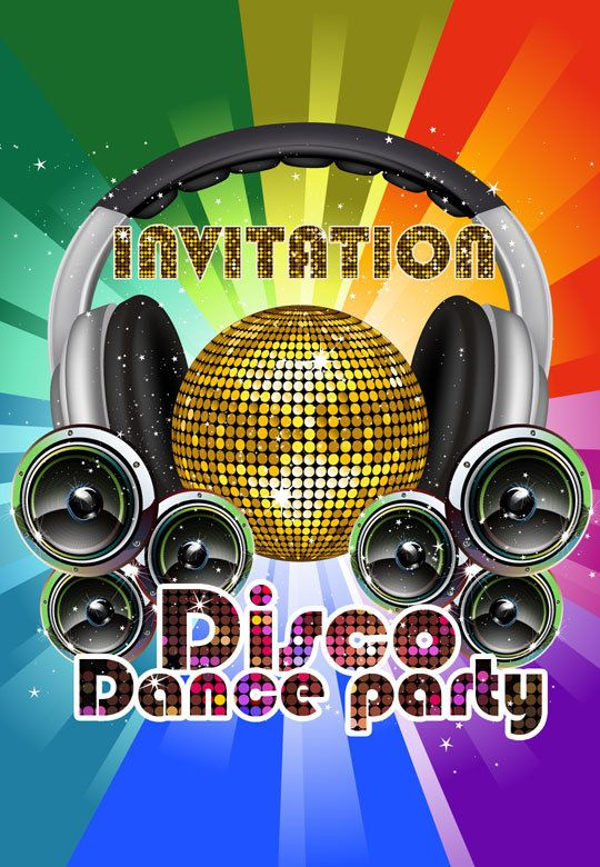 Disco Party Invitations as awesome invitations design
