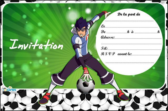 Super Invitation anniversaire Galactik Football Ahito - 123 cartes FI52