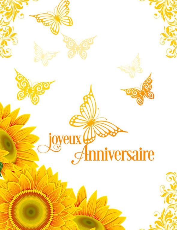 Carte anniversaire Nature orange