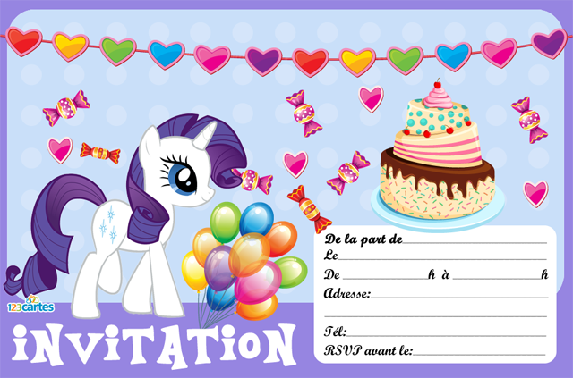 invitation rarity My little Pony