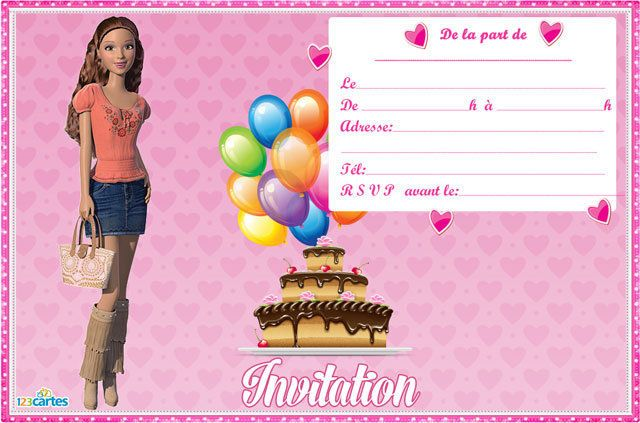 Invitation Barbie as best invitation ideas