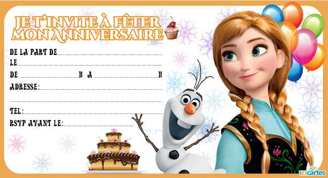 Fabuleux Invitation anniversaire Reine des neiges - 123 cartes - Linkis.com GQ11