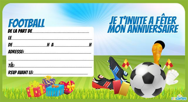 Connu football - Cartes et invitations gratuites - 123 cartes UZ38