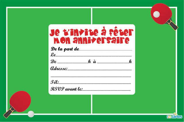 invitation anniversaire tennis de table 1