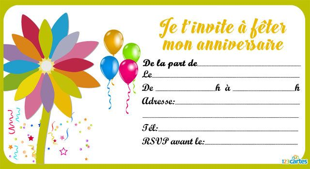 Top Invitation anniversaire Assortiment de fleurs - 123 cartes VS77