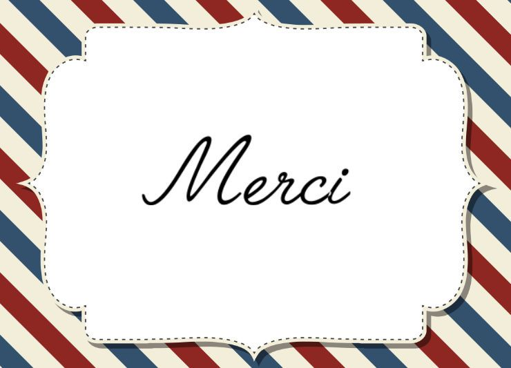Extrêmement Carte Merci Par avion - 123 cartes SZ97