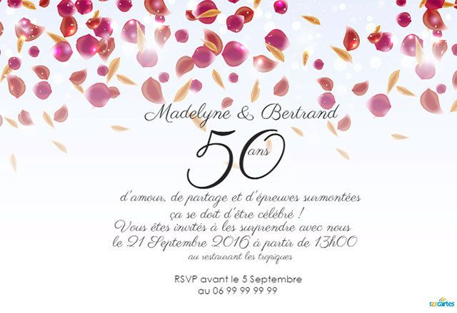 carte invitation anniversaire 50 ans gratuite fv69 jornalagora. Black Bedroom Furniture Sets. Home Design Ideas