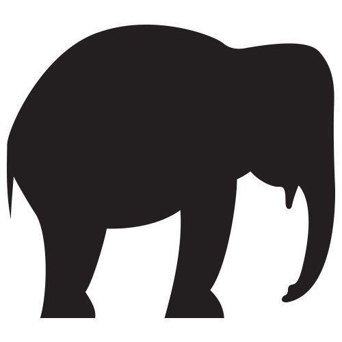 pochoir éléphant gratuit à imprimer