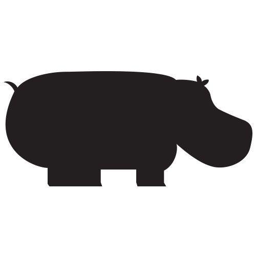 pochoir hippopotame gratuit à imprimer