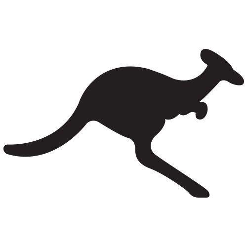 pochoir kangourou gratuit à imprimer