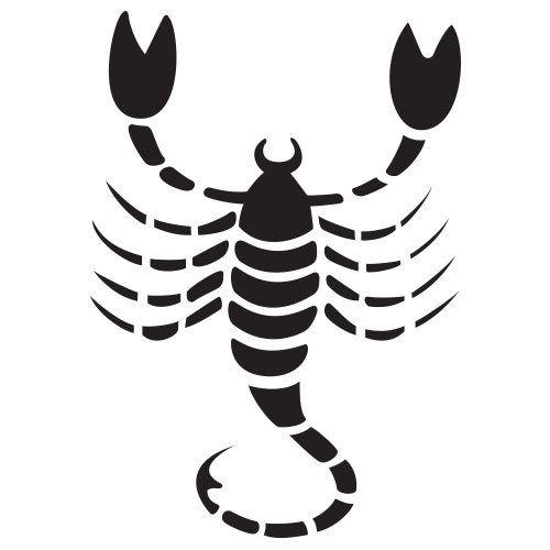 pochoir scorpion gratuit à imprimer