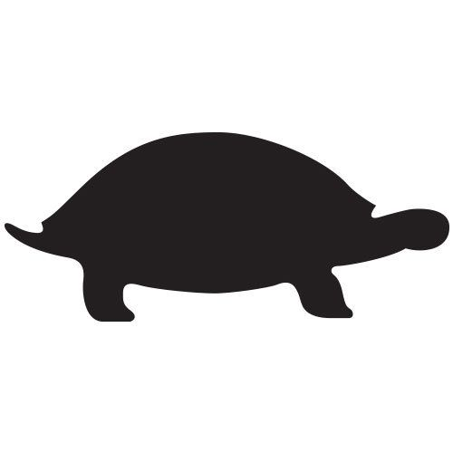 pochoir tortue gratuit à imprimer