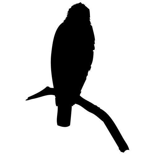 pochoir oiseau sur une branche 2 gratuit à imprimer