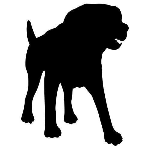 pochoir chien rottweiler gratuit à imprimer