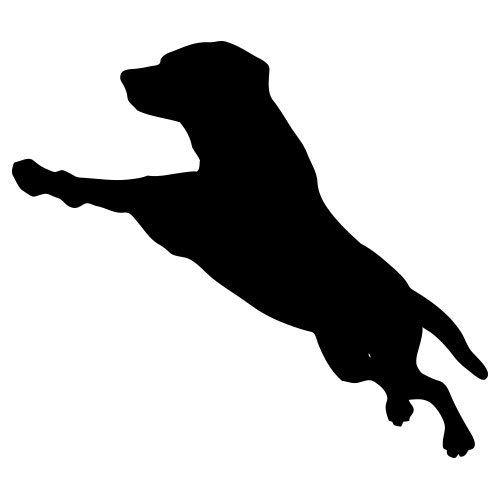 pochoir chien sautant gratuit à imprimer