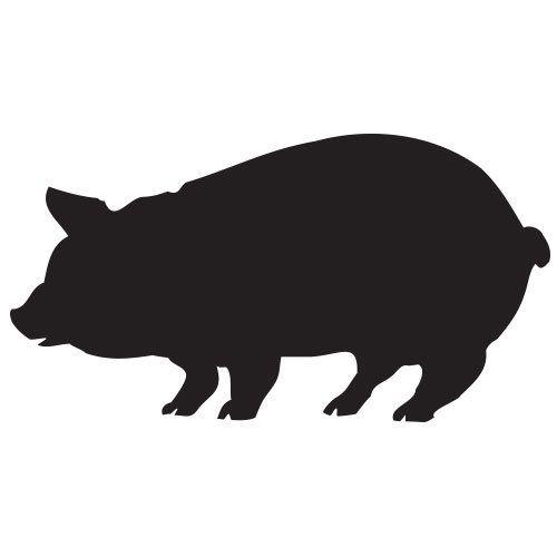 pochoir cochon gratuit à imprimer