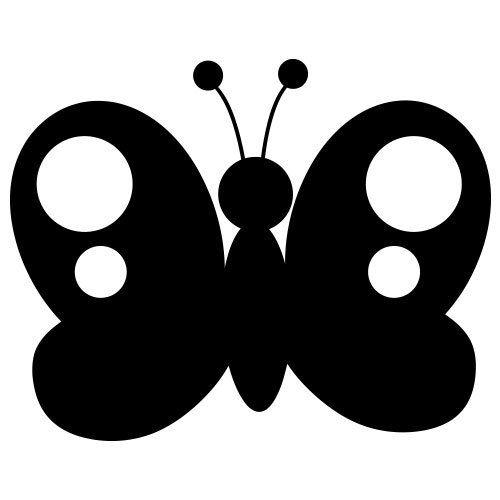 pochoir papillon 6 gratuit à imprimer